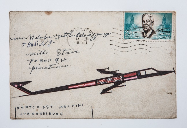 One Tito Zungu's envelopes which he sent home in the 1960s. The epitome of migrant labour, these envelopes told his loved ones a story about the big city he was not able to with words. Photo supplied.