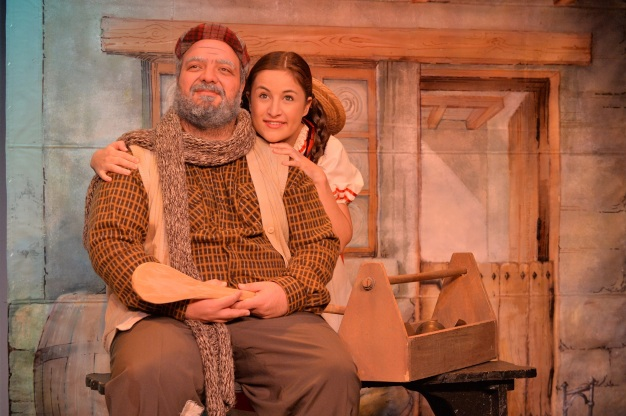 The Alm-Uncle (Grant Towers) and Heidi (Megan Rigby). Photograph courtesy National Children's Theatre.